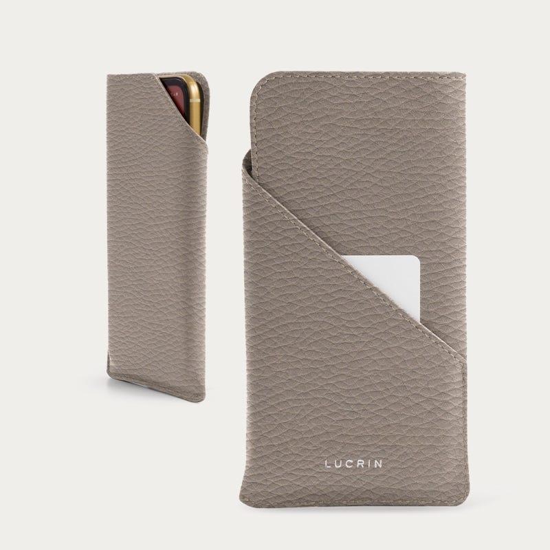 Дизайнерский чехол для телефона iPhone 11 Pro - Светлый серо-коричневый  - Зернистая кожа